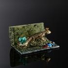 """Сувенир """"Ящерица"""", 8х12х5 см, змеевик, гипс"""