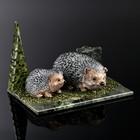 "Souvenir ""hedgehogs"", 10х15х6 cm, serpentine, gypsum"
