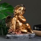 """Фигура """"Ангел на траве"""" бронза 28х27х18см"""