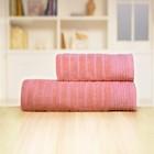 Полотенце «Бамбук», размер 70 х 140 см, розовый, махра - фото 7929725