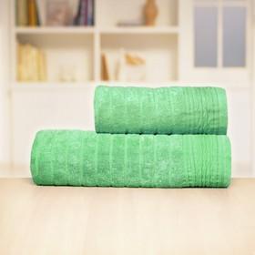 Полотенце «Бамбук», размер 33 х 70 см, зелёный, махра
