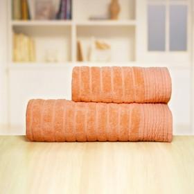 Полотенце «Бамбук», размер 33 × 70 см, персиковый, махра