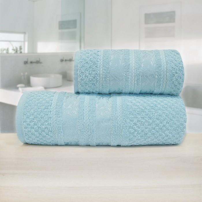 Полотенце «Зенит», размер 70 х 140 см, синий, махра - фото 7929730