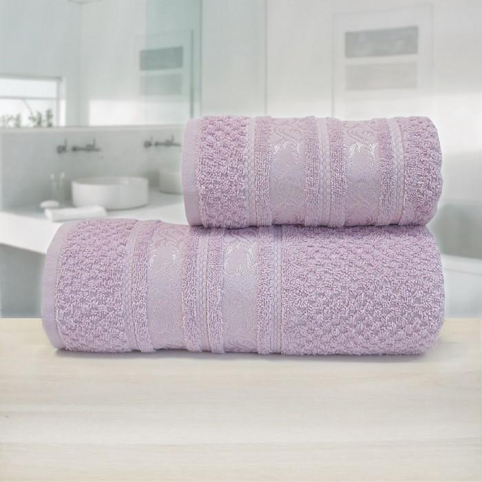 Полотенце «Зенит», размер 70 х 140 см, розовый, махра - фото 7929731
