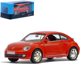 Машина металлическая VOLKSWAGEN BEETLE COUPE, 1:32, инерция, цвет красный