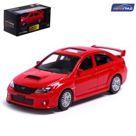 Машина металлическая SUBARU WRX STI, 1:43, цвет красный