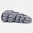 Set purses 5/1, City, sponge 20*to 2.5*13cm, division zipper, black