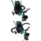 """Велосипед трехколесный Micio Veloce, колеса EVA 10""""/8"""", цвет бирюзовый - фото 736139"""