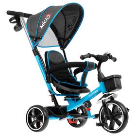 """Велосипед трехколесный Micio Veloce, колеса EVA 10""""/8"""", цвет голубой"""