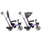 """Велосипед трехколесный Micio Veloce, колеса EVA 10""""/8"""", цвет фиолетовый - фото 105546688"""