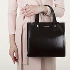 Сумка женская, 2 отдела с перегородками на молнии, наружный карман, цвет коричневый - фото 647475