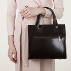 Сумка женская, 2 отдела с перегородками на молнии, наружный карман, цвет коричневый - фото 647476