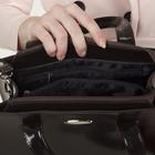 Сумка женская, 2 отдела с перегородками на молнии, наружный карман, цвет коричневый - фото 647478