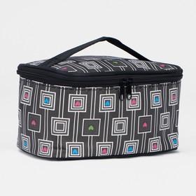 Косметичка-сумочка, отдел на молнии, с зеркалом, цвет чёрный в Донецке
