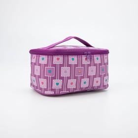 Косметичка-сумочка, отдел на молнии, с зеркалом, цвет сиреневый в Донецке