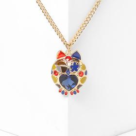 """Кулон """"Сова"""", разноцветный в золоте, 65см Y59984"""