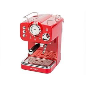Кофеварка Oursson EM1500/RD, рожковая, 1100 Вт, автоотключение, красная
