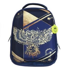 Рюкзак каркасный Calligrata, 37 х 28 х 19 см, «Сова», синее золото