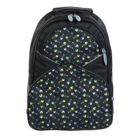 Рюкзак школьный, Calligrata, 37 х 26 х 13 см, эргономичная спинка, «Рыбки»