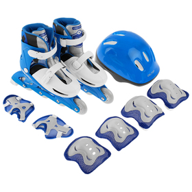 A set of sliding Rollers+protection, size 34-37, PVC wheels 64 mm, plastic frame