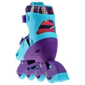 Набор ролики раздвижные + защита, размер 30-33, колёса PVC 64 мм, пластиковая рама - фото 7399818