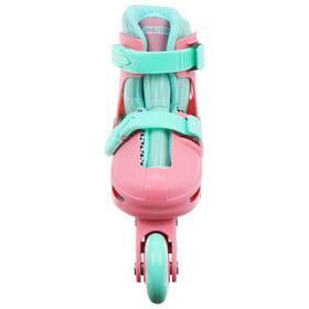Набор ролики раздвижные + защита, размер 30-33, колёса PVC 64 мм, пластиковая рама - фото 7399840