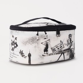 Косметичка-сумочка, отдел на молнии, с зеркалом, цвет серый в Донецке