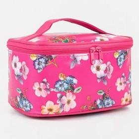 Косметичка-сумочка, отдел на молнии, с зеркалом, цвет малиновый в Донецке