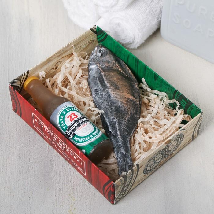 Набор «Непобедимый» мыло пиво, мыло вобла - фото 486919