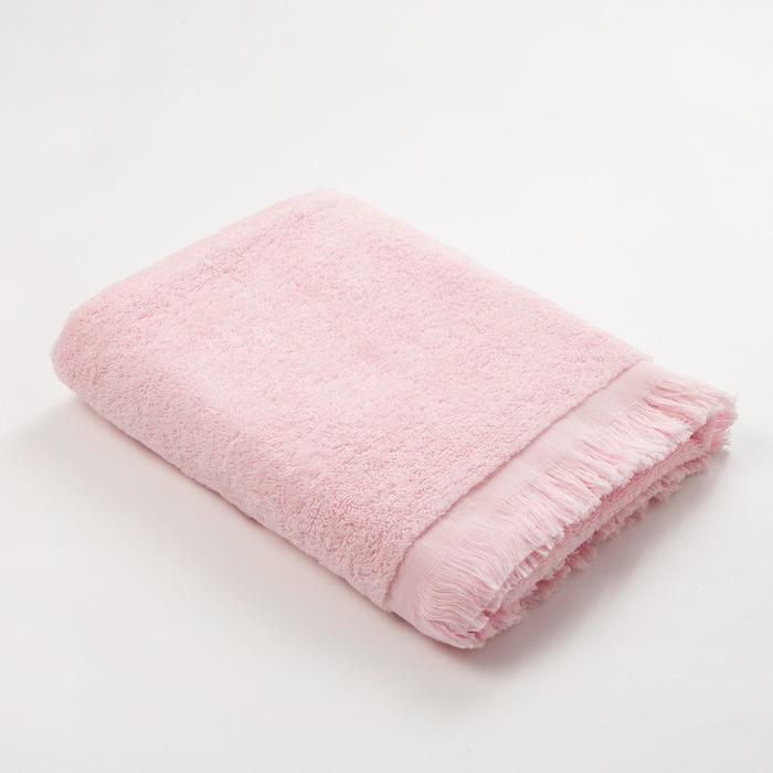 Полотенце махровое Love Life Fringe 70*130 светло-розовый, 100% хлопок, 360 г/м2