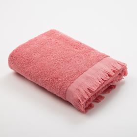 Полотенце махровое Love Life Fringe 30*60 пыльный розовый,100% хлопок, 360 г/м2