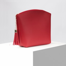 Cosmetic bag simple Susie, 23,5*6,5*18cm, a separate zip, red