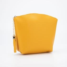 Cosmetic bag simple Susie, 23,5*6,5*18cm, otd zipper, yellow