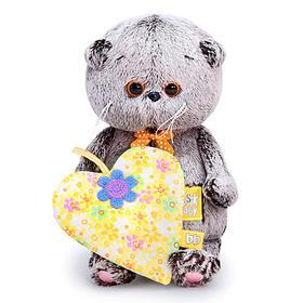 Мягкая игрушка «Басик BABY с желтым сердечком», 20 см