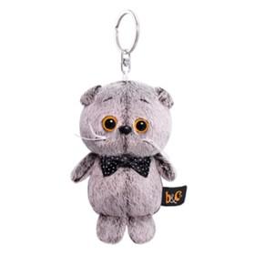 Мягкая игрушка-брелок «Кот Басик с бантиком-бабочкой», 12 см