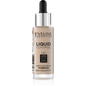 Тональная основа Eveline Liquid Control, инновационная жидкая, тон 015 light vanilla, 32 мл