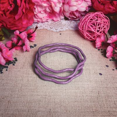"""Beads bracelet """"Reptile"""", color pink"""