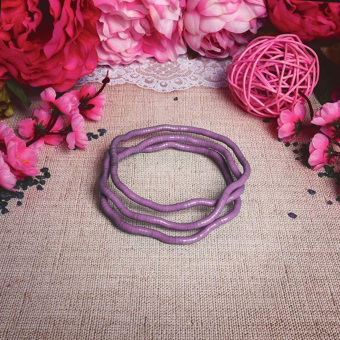 """Бусы-браслет """"Рептилия"""", цвет розовый, 100см"""