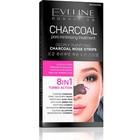 Полоски для носа Eveline «Угольная процедура очищения пор», глубоко очищающие, 3 шт.