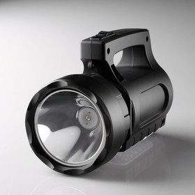 Фонарь-прожектор аккумуляторный, 9 Вт+3 Вт,1800 mAh,18 led, от сети 220 В, 18.5х11х9