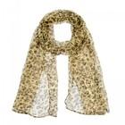 Палантин женский, цвет леопард, размер 50х170
