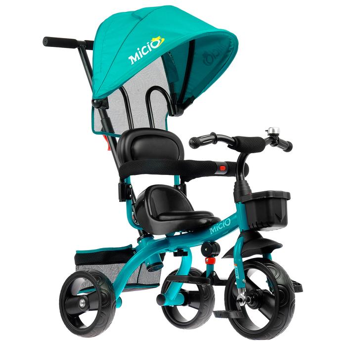 """Велосипед трехколесный Micio Gioia, колеса EVA 10""""/8"""", цвет зеленый"""
