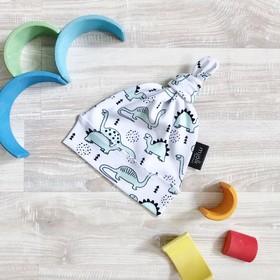 Шапочка для малышей «Динозавры», обхват 46-50 см