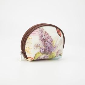 Simple cosmetic bag lilac 18*5,5*13 n/a oval, otd zipper, matte