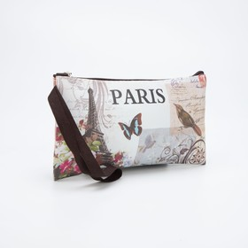 The cosmetic bag is a simple City 19.5*0.5*11, otd zipper, matte