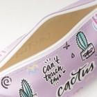 Косметичка простая, отдел на молнии, цвет розовый - фото 1765240