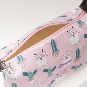 Косметичка простая, отдел на молнии, цвет розовый - фото 1765236