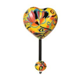 "Крючок керамический в виде сердца ""Корфу"" 12,3*6,8*5,2 см"