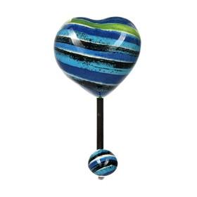 """Крючок керамический в виде сердца """"Санторини"""" 12,3*6,8*5,2 см"""