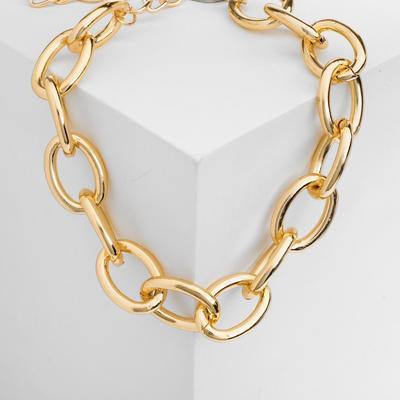 "Necklace ""Chain reaction"" color gold"